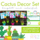 Colorful Cactus Decor Set
