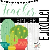 Colorful Cactus Teacher Binder & Planner Pack - Yearly Updates!
