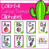 Colorful Cactus Themed Alphabet Posters