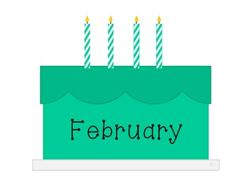 Colorful Cakes - Classroom Birthdays Display