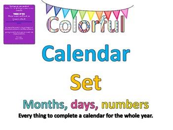Colorful Calendar Bulletin Board Set