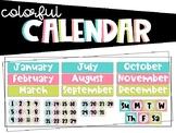 Colorful Calendar (Calendar Math)