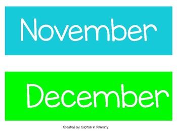 Colorful Calendar Kit