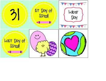 Colorful Calendar Kit! Part1