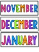 Colorful Calendar Labels >>FREEBIE!
