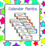 Colorful Calendar Months