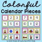 Colorful Calendar Pieces