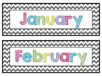 Colorful Calendar Set {Month, Days of Week, and Number Cards}