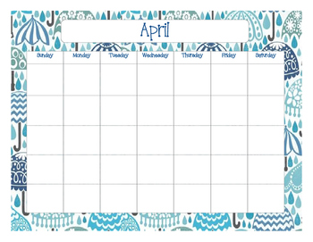 Colorful Calendars for Each Month of the Year