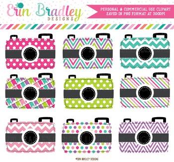 Colorful Cameras Clipart