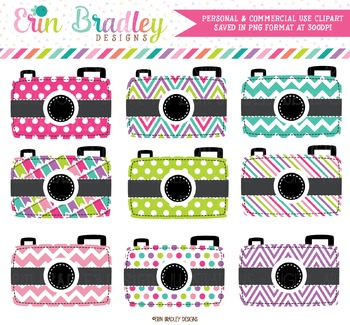 Colorful Cameras Clipart