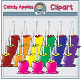 Colorful Candy Apples Clipart
