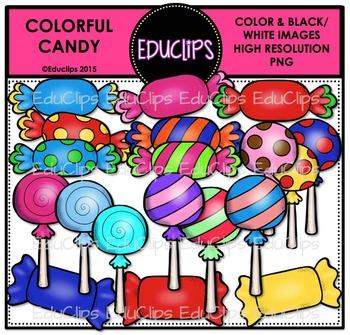 Colorful Candy Clip Art Bundle {Educlips Clipart}