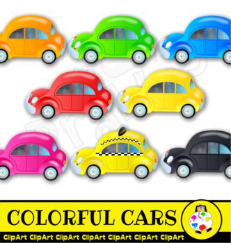 Colorful Car ClipArt