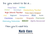 Colorful Careers that Need Math Poster