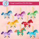 Colorful Carousel Horse Clip Art