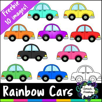 Free Rainbow Cars - 10 images! - For Personal and Commercial Use