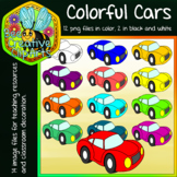 Colorful Cars Clip Art