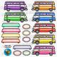Colorful Cars Clip Art set 4