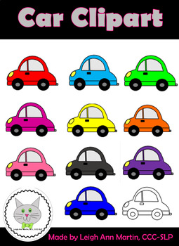 Colorful Cars Clipart