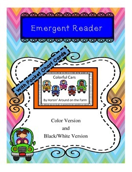 Colorful Cars - Emergent Reader with Pocket Chart Cards