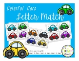 Colorful Cars Letter Match