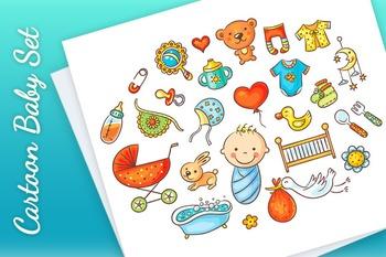 Colorful Cartoon Baby Set