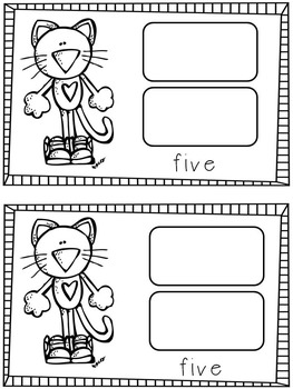 Colorful Cat Kindergarten Math and Literacy Centers