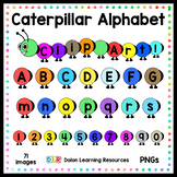 Caterpillar Clip Art in Rainbow Colors
