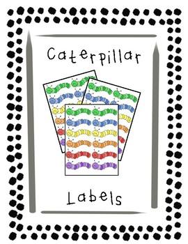 Colorful Caterpillar Labels