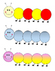 Colorful Caterpillars Clipart