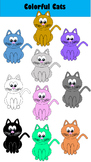 Colorful Cats Clipart