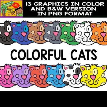 Colorful Cats - Set of Cliparts