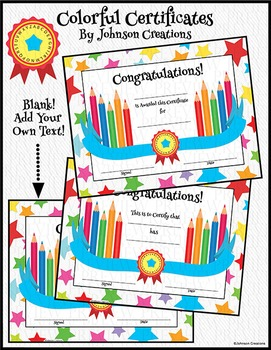 Colorful Certificates