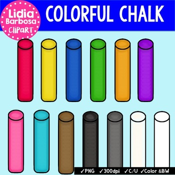 Colorful Chalk {Clip Art for Teachers}