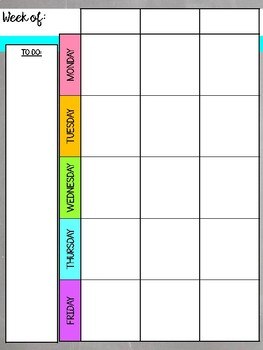 Colorful Chalkboard 2018-2019 Planner