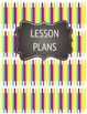 Colorful Chalkboard Binder Covers