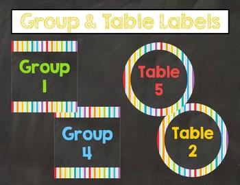 Colorful Chalkboard Classroom Decor