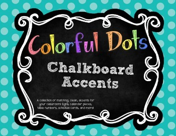 Colorful Chalkboard Dot Classroom Decor Accents!