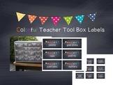 Colorful Chalkboard Labels