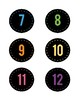 Colorful Chalkboard Numbers, #1-36
