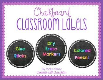 Colorful Classroom Organization Labels {Chalkboard}
