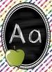 Colorful Chalkboard Print Alphabet