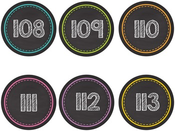 Colorful Chalkboard Style Number Line - 0-180!