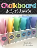 Colorful Chalkboard Subject Labels