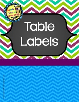 Colorful Chalkboard Table Labels