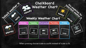 Colorful Chalkboard Weather Chart