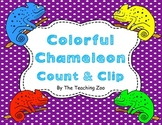 Colorful Chameleon Count & Clip 1-20 Task Cards