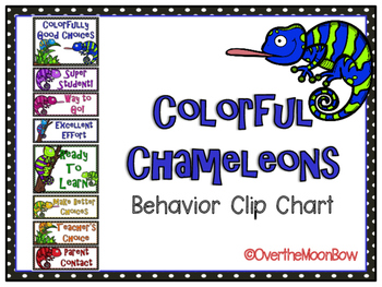 Colorful Chameleons Behavior Clip Chart