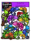 Colorful Chameleons {Creative Clips Digital Clipart}